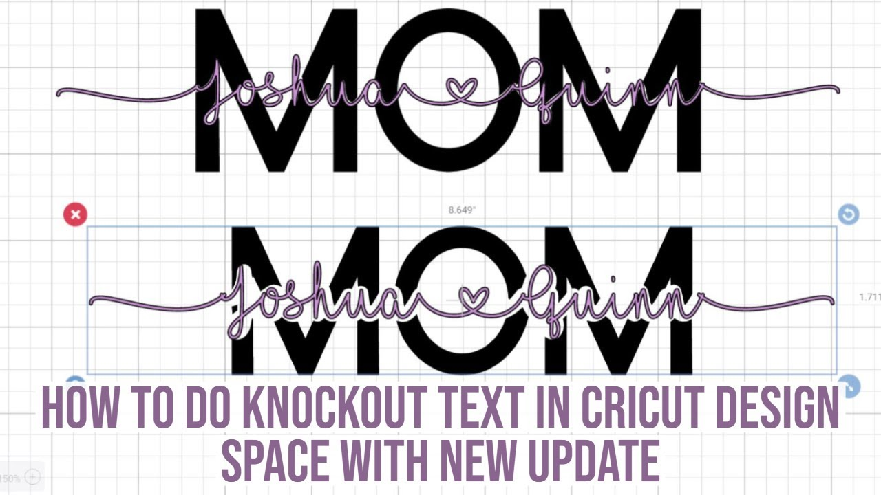 How You Can Still Do The Knockout Text In Cricut Ds After Cricut Disabled The Save Feature 2 Ways Youtube