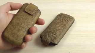 Обзор: Оригинальный Кожаный Чехол-Карман с Застежкой для Nokia 6700