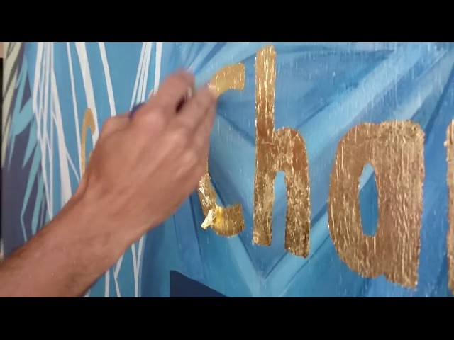 Live Painting Gold Leaf Application