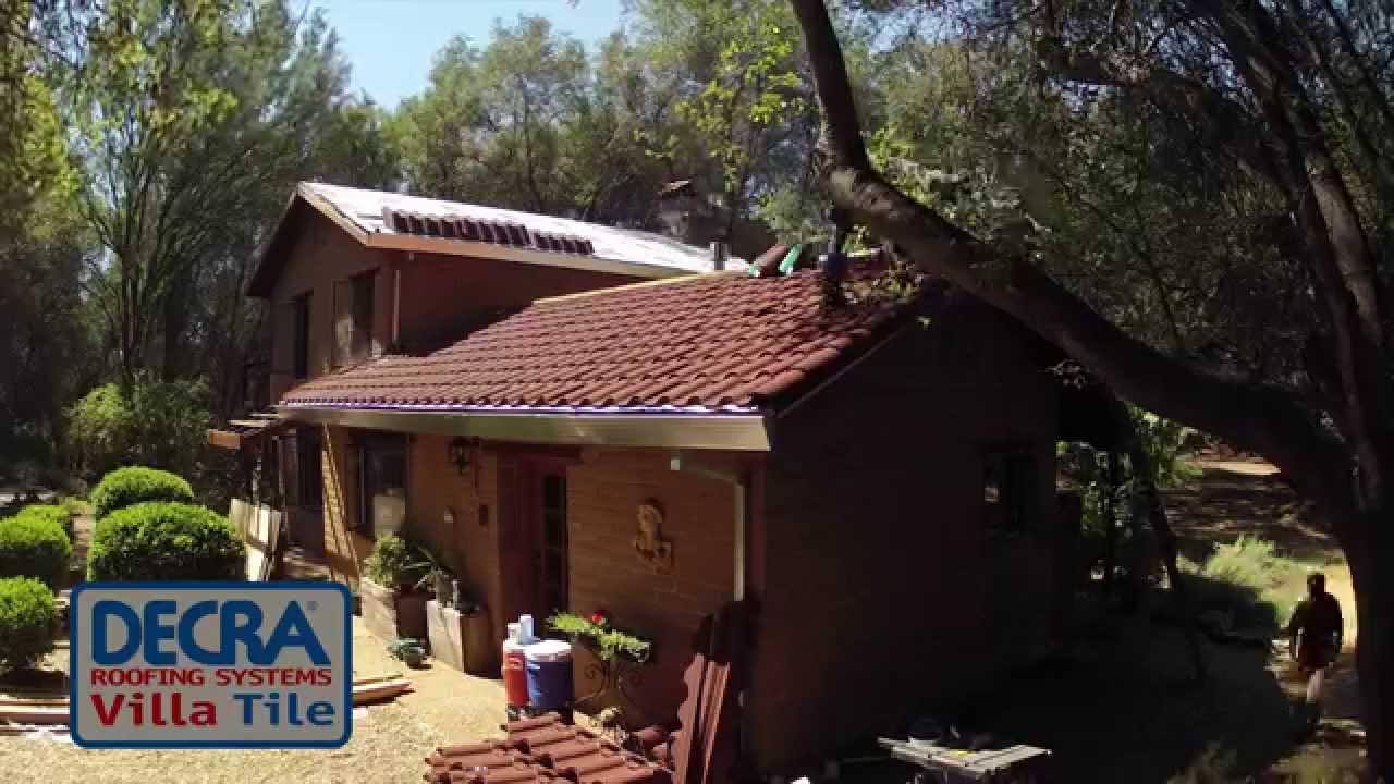 decra villa tile install ironstone time lapse