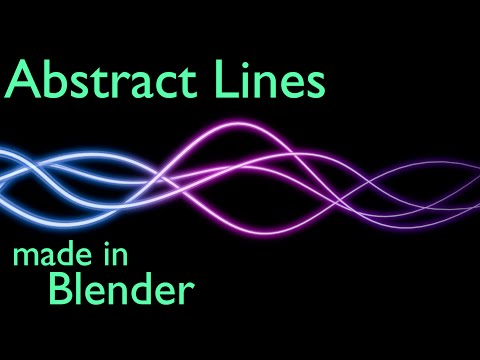 How to Make Abstract Lines in Blender