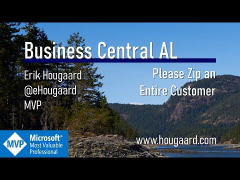 Please Zip an entire Customer with AL in Business Central