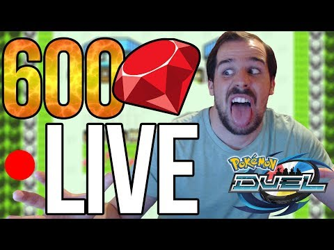 DOUBLE EX PULL LIVE?! 600 Gem Booster Box Openings | POKEMON DUEL
