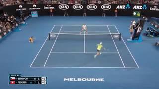 Шедевры Федерера на АО2018