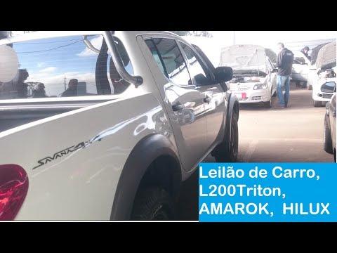Leilão de Carro, Mitsubishi l200 Triton Savana, Volkswagen AMAROK 4x4 high, Toyota HILUX 4x4 SRV