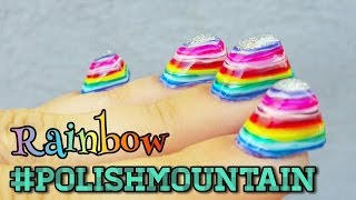 Rainbow #PolishMountain | 100+ Coats of Nail Polish thumbnail