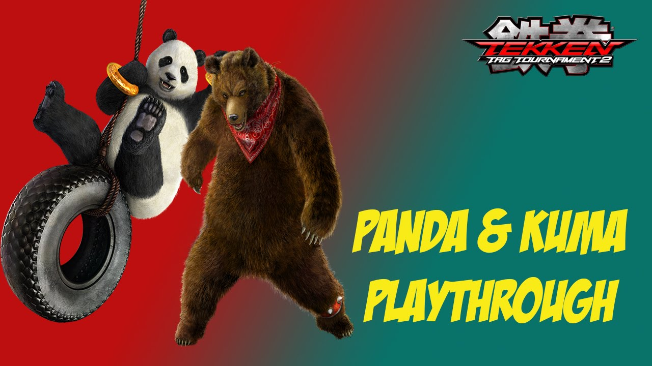 Tekken Tag Tournament 2 Medium Arcade Battle Panda Kuma Playthrough Youtube