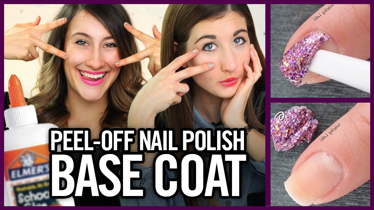 diy peel off nail polish base coat with glue makeup