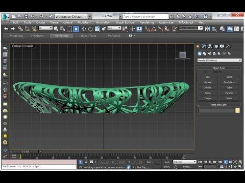 Bird's nest stadium 3D modeling   3dsMax