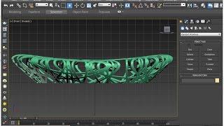 Bird's nest stadium 3D modeling | 3dsMax