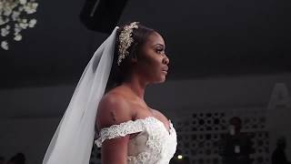 Nollywood actress Toni Tones in Yemi Shoyemi at the Lagos Bridal Fashion Week 2018  LagosBFW2018