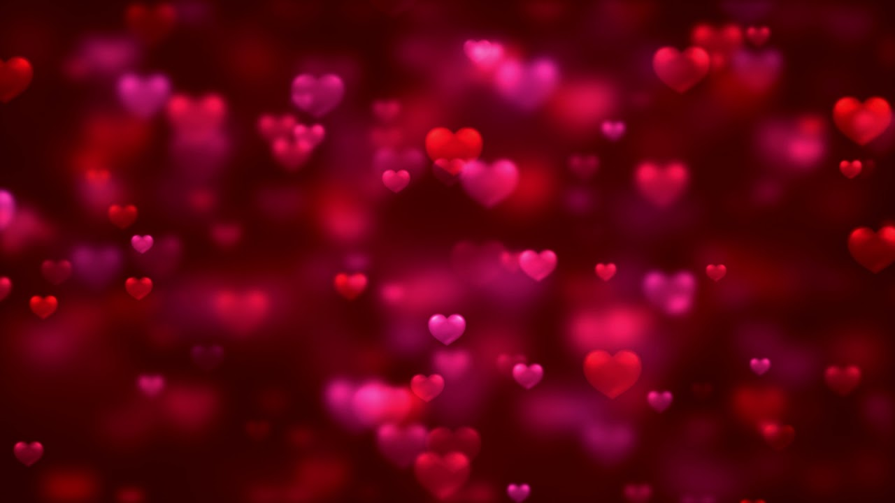 Red Hearts Love Video Background | HD Relaxing Screensaver
