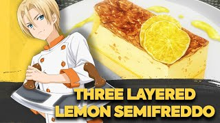 How to make Italian Three Layered Lemon Semifreddo from Food Wars! (食戟のソーマ) | Shokugeki no Soma