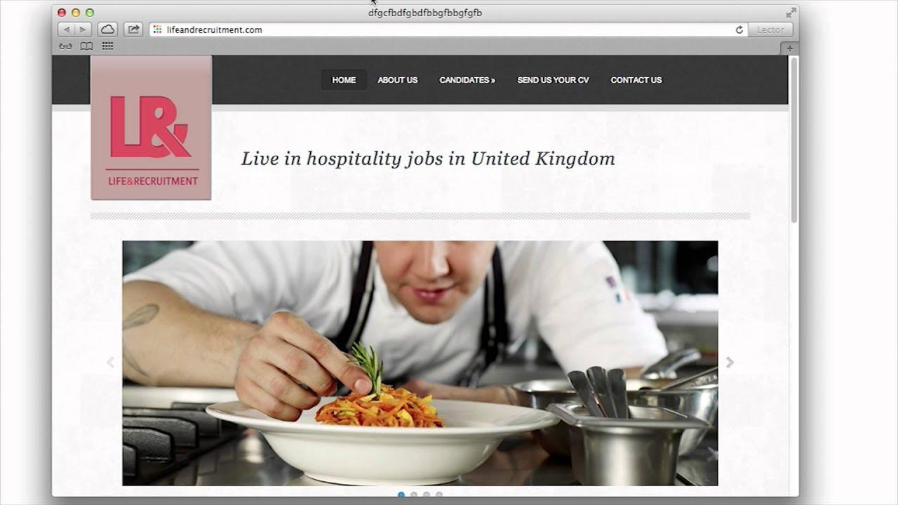 live in hospitality jobs in united kingdom