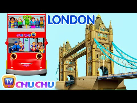 Wheels On The Bus Go Round And Round Song | London City  | Popular Nursery Rhymes by ChuChu TV