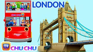 Wheels On The Bus Go Round And Round Song | London City  | Popular Nursery Rhymes by ChuChu TV thumbnail