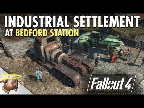 INDUSTRIAL YARD AT BEDFORD STATION - Realistic Fallout 4 settlement tour (Part 2 of 2) thumbnail