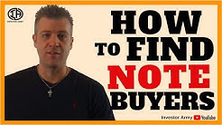How To Find Note Buyers