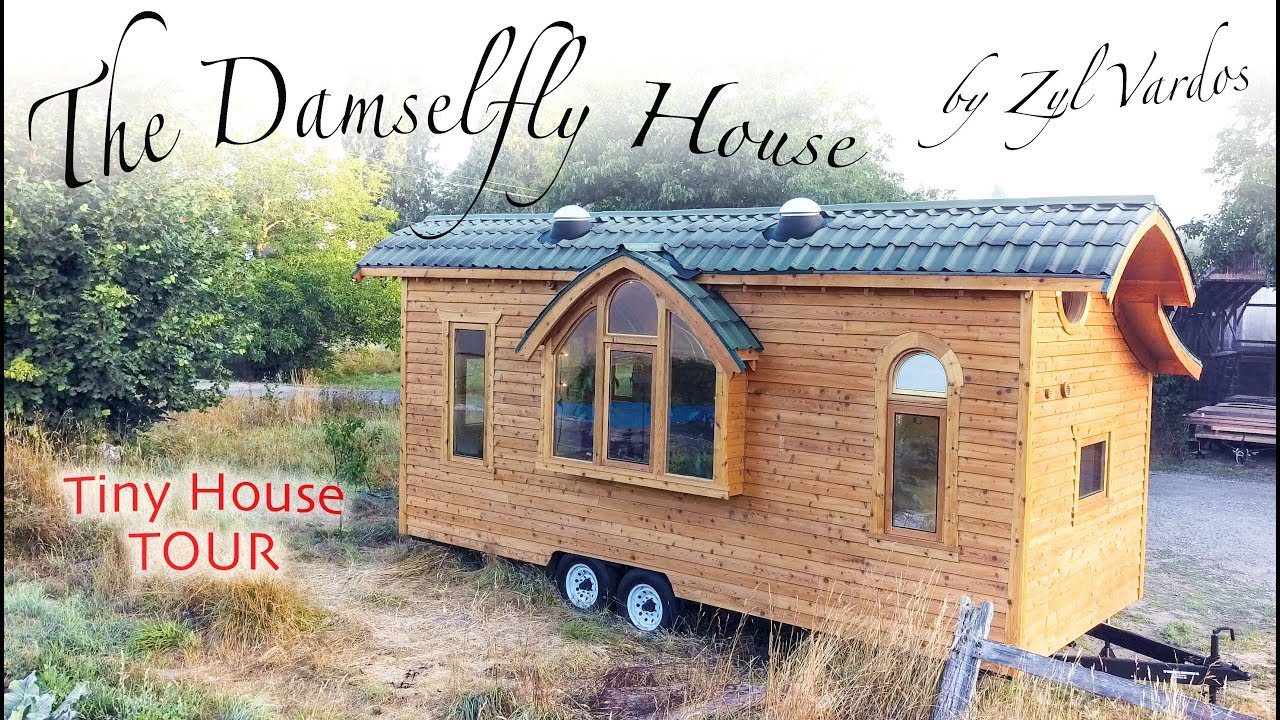 ravishing tiny trailer house. Damselfly Tour  A Jewel of Functional Craftsmanship Filmed in 4k