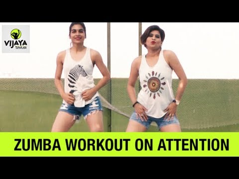 Zumba Workout On Attention | Zumba Fitness Dance | Choreographed By Vijaya Tupurani