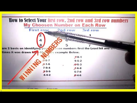 The Best Technique To Select Your Lottery Winning Numbers - 100% Tested