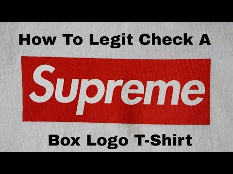 How To Legit Check A Supreme Box Logo T-Shirt (F&F '06) - YouTube