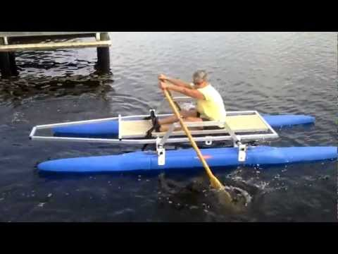 Rowing 12 ft Expandacraft with sailboat frame