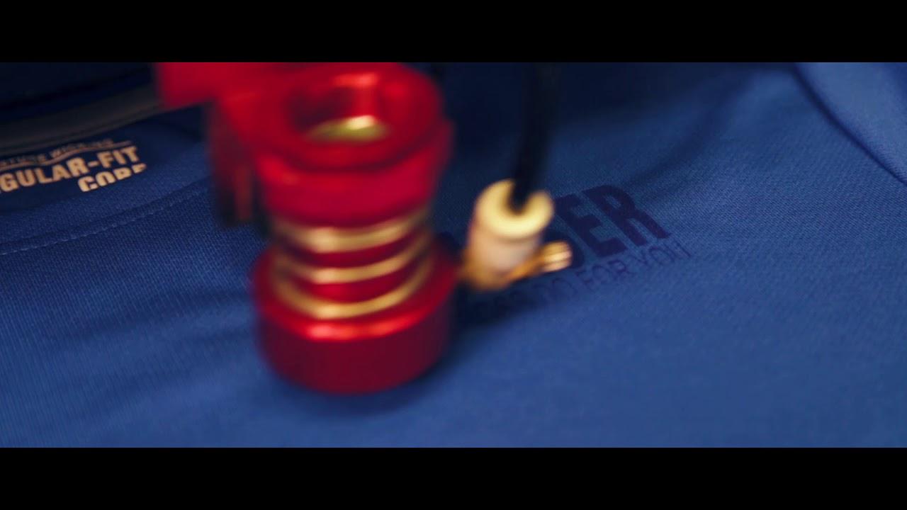 Laser Etching / Marking Polyester Shirt - Boss Laser