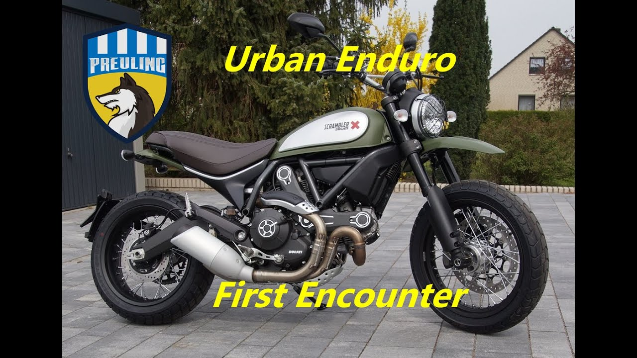 ducati scrambler urban enduro first encounter youtube. Black Bedroom Furniture Sets. Home Design Ideas