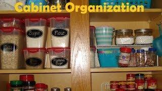 Baking & Spice Cabinet Organization