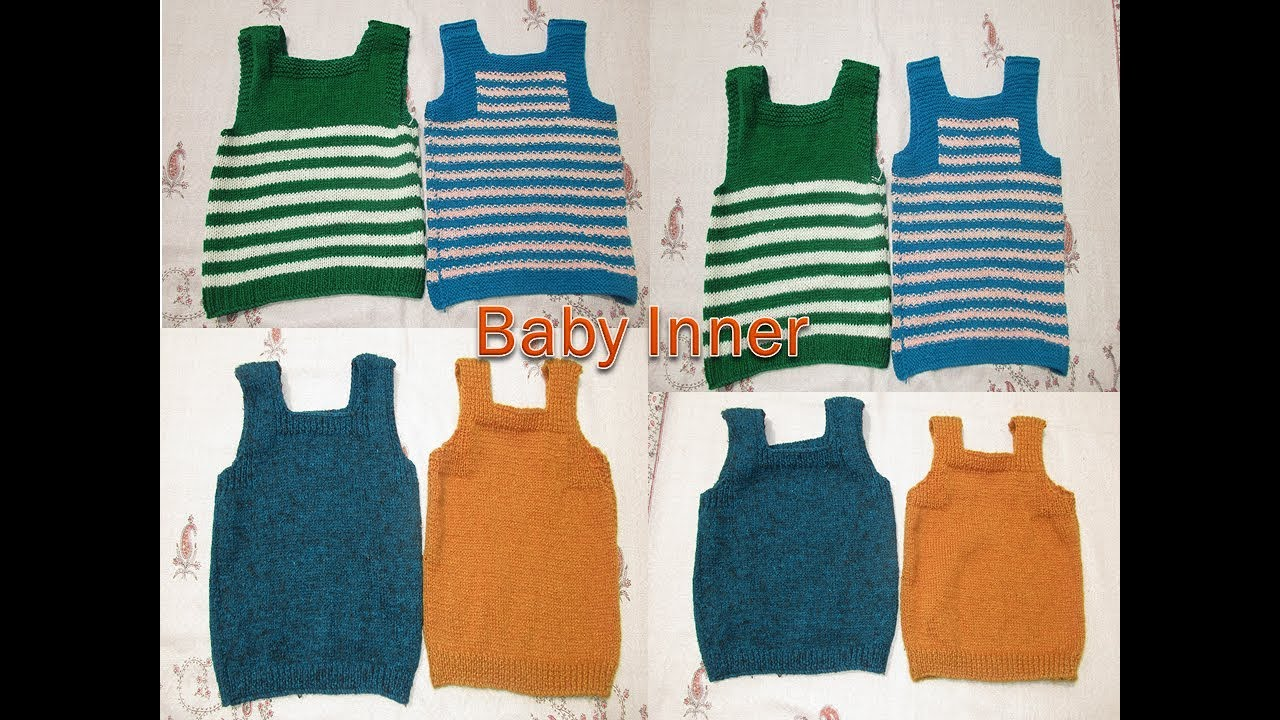2fa8fc923967 How to make baby vest inner knitting sweater  in hindi  - YouTube