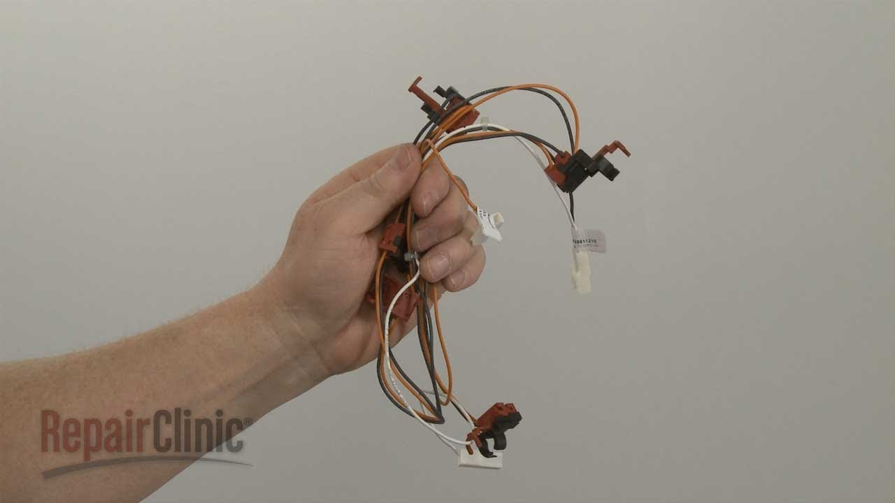 Whirlpool Gas Cooktop Spark Switch Harness Replacement W10539913 Stove Top Wiring