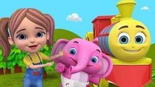 🔴 Chuk Chuk Karti Aati Hai बालगीत | बच्चों के लिए गाने | Nursery Rhymes & Cartoons For Kids