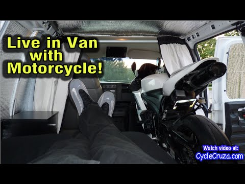 Live in Van with Motorcycle | Bug Out Van