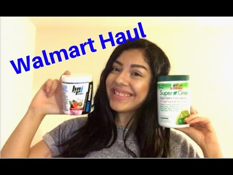 WALMART HAUL: bpi bcaa, supergreens, organic coconut oil, and more!