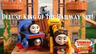 Thomas And Friends Wooden Railway Deluxe King Of The Railway Set!