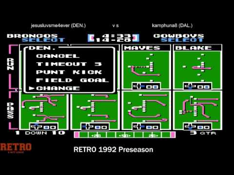 WTF RETRO 1992 Preseason Dallas Cowboys vs Denver Broncos (chaosconfetti)