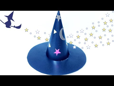 Diy fascinator hat Paper witch / diy halloween decorations / easy halloween costumes ideas  for kids
