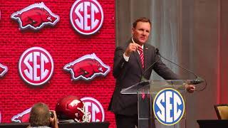 Arkansas head coach Chad Morris at SEC Media Days