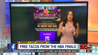 Free Tacos at Taco Bell after NBA Finals win