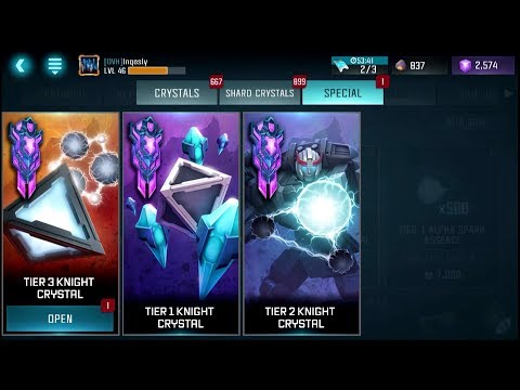 Tier 3 Knight Crystal Opening - Transformers: Forged to Fight
