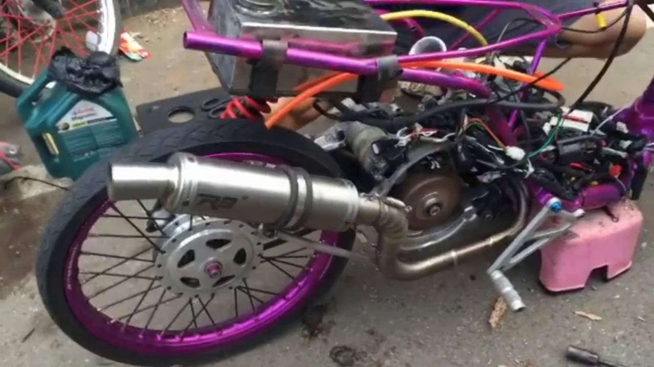 66 Gambar Sketsa Motor Drag Mio Terbaru Daun Motor