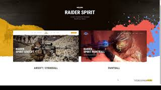 Raider Spirit Airsoft Club and Paintball WordPress Theme military shop Moe