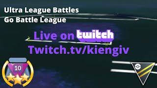 Live Stream Ultra League Battles   Trying Lots of New Teams   Go Battle League