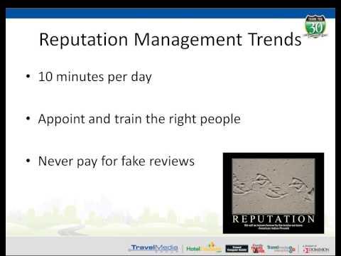 Hotel Marketing 102 - Hotel Reputation Management