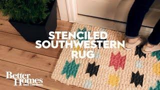 Stenciled Southwestern Rug