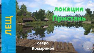 Русская рыбалка 4 - озеро Комариное - Лещ крупненький с пристани