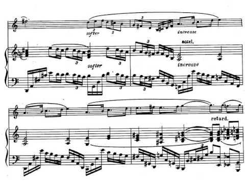 Paul Creston. Sonata para Saxofón I-Tempo 2. Partitura. Audición.