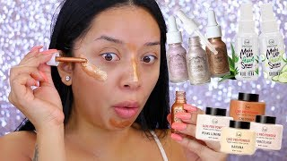 NEW! DRUGSTORE MAKEUP OF 2018 | J.CAT BEAUTY LIQUID HIGHLIGHTERS & MORE!