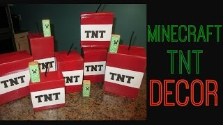 DIY Minecraft TNT Decor | Brithday Party!